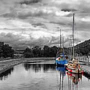 Crinan Canal Scotland Poster