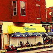 Croissanterie Figaro Parisian Bistro Sidewalk Cafe C Spandau Montreal Premier City Scene Artist Poster