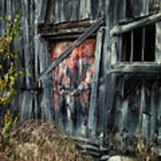 Crooked Barn - Rustic Barns Series  Poster by Thomas Schoeller