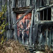 Crooked Barn - Rustic Barns Series  Poster