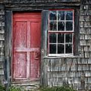 Crooked Red Door Poster