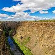 Crooked River Canyon And Bridge Poster