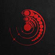 Crop Circle Formation Near Avebury Stone Circle In Wiltshire England In Red Poster