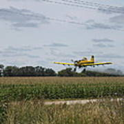 Crop Dusting 2 Poster by Victoria Sheldon