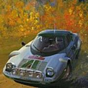 Cropped Stratos Rallye Magazine Cover Art  Poster