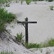Cross In The Dunes Poster