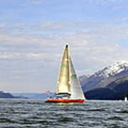 Cross Sound Sailboat Poster