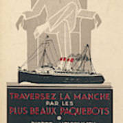 Cross The Channel In A  Passenger Poster