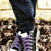 Crossed Feet Of Teen Girl Poster