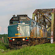 Via Train Crossing The Miramichi River Poster by Steve Boyko