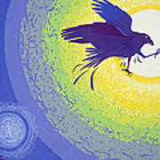 Crow, 1999 Gouache On Paper Poster