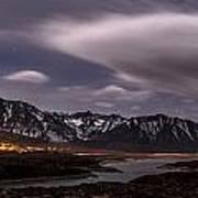 Crowley Lake At Night Poster