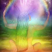 Crown Chakra Goddess Poster by Carol Cavalaris