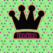 Crown In Pop Art Poster by Tommytechno Sweden