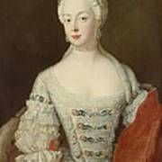 Crown Princess Elisabeth Christine Von Preussen, C.1735 Oil On Canvas Poster