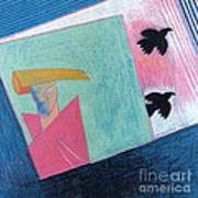 Crows And Geometric Figure Poster