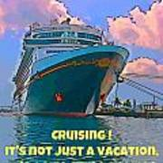 Cruise Ship In Port Poster