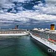 Cruise Ships Port Everglades Florida Poster