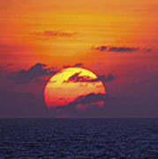 Cruise Sunset Poster