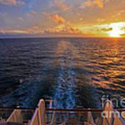 Cruising At Sunset Poster