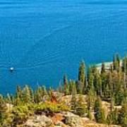 Cruising Jenny Lake Poster