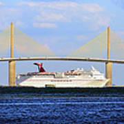 Cruising Tampa Bay Poster by David Lee Thompson