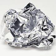 Crumpled Aluminum Foil Poster