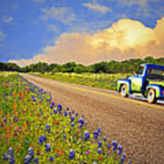 Crusin' The Hill Country In Spring Poster