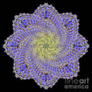 Crystal Blue Salvia Poster