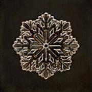 Crystal Snowflake Poster