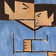 Cubism Spock baby Spock Art Print Poster