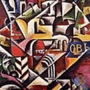 Cubist Cityscape, 1914 Poster