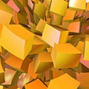 Cubist Melon Burst By Jammer Poster