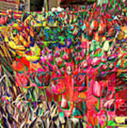 Tulips Of Many Colors - Nyc Markets Poster