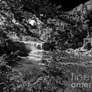 Cumberland Falls Black And White Poster
