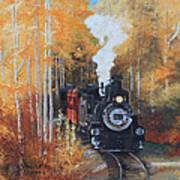 Cumbres And Toltec Railroad Steam Train Poster by Cecilia Brendel