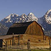 Cunningham Cabin Grand Tetons Wyoming Poster