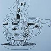 Cup Cake - Doodle Poster