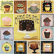 Cupcake Mosaic Poster by Catherine Holman