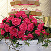Cupcakes And Roses Poster by Terri Waters
