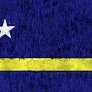 Curacao Flag Poster