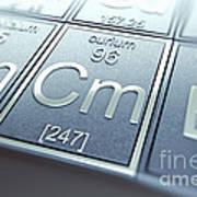 Curium Chemical Element Poster