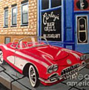 Curley's Corvette Poster