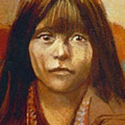 Curtis Indian Girl Poster