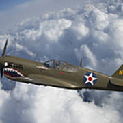 Curtiss P-40 Warhawk Flying Tigers Poster