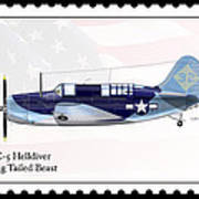 Curtiss Wright Sb2c-5 Helldiver Poster