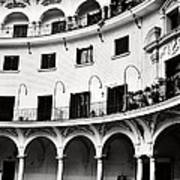 Curved Seville Spain Courtyard Poster