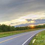 Curvy Road Sunset Poster