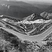 Curvy Roads Silk Trading Route Between China And India Poster