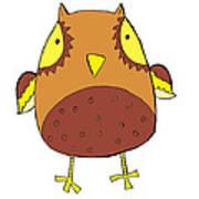 Cute Brown Owl Poster
